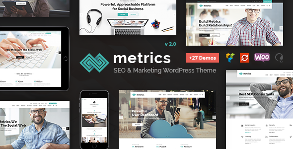 SEO Metrics - SEO, Digital Marketing, Social Media WordPress Theme - Marketing Corporate