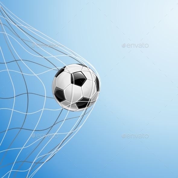 Soccer Ball in Goal - Sports/Activity Conceptual