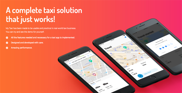 Taxi Application iOS Solution + dashboard - CodeCanyon Item for Sale