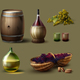Set of Wine Making Supplies - GraphicRiver Item for Sale