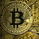 Golden Bitcoins Backgrounds - GraphicRiver Item for Sale