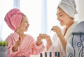 Mother and daughter are doing manicures - PhotoDune Item for Sale