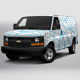 2017 Chevy Express 2500 Cargo Van - GraphicRiver Item for Sale