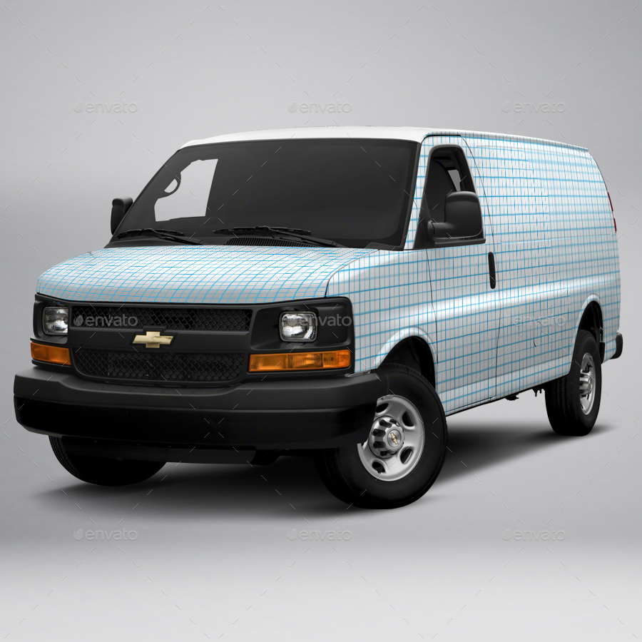 2017 Chevy Express 2500 Cargo Van By Pascau Graphicriver