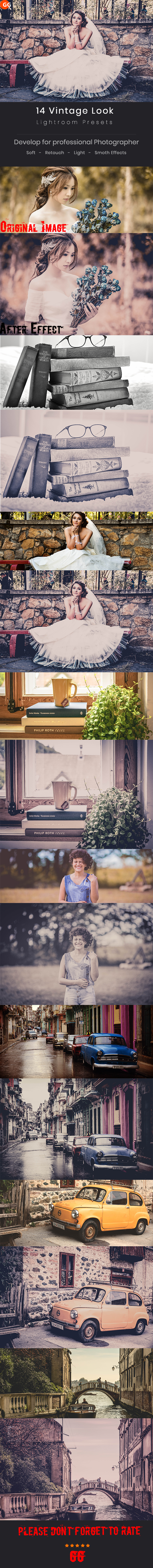 14 Vintage Look Lightroom Preset - Vintage Lightroom Presets