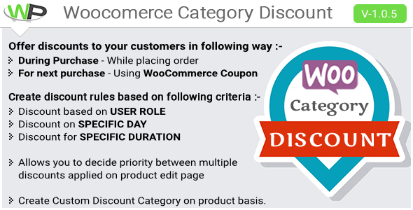 Woocommerce Category Discount - CodeCanyon Item for Sale