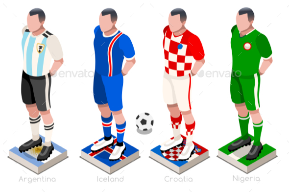 Soccer Group Vector - Sports/Activity Conceptual