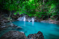 Jungle landscape with Erawan waterfall. Kanchanaburi, Thailand - PhotoDune Item for Sale