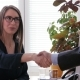 A Female Job Recruiter Ends Job Interview By Shaking Hands with Her Applicant - VideoHive Item for Sale