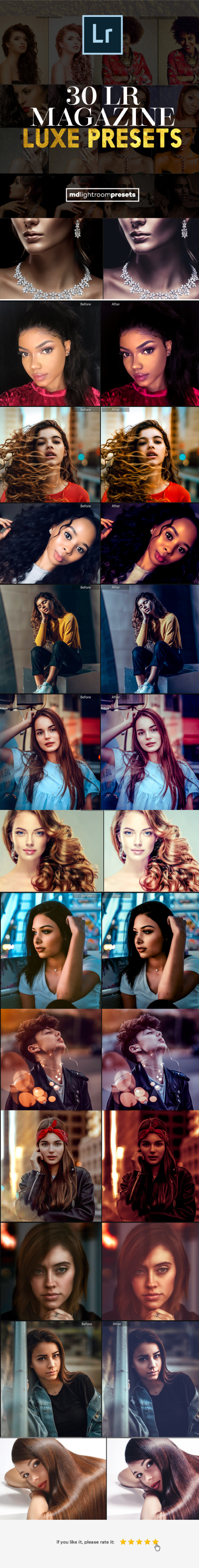 30 Luxe Fashion Magazine Lightroom Presets - Portrait Lightroom Presets
