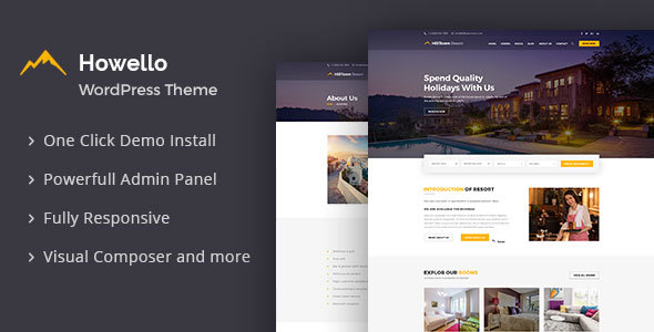 hilltown resort : hotel and resort wordpress theme (travel) Hilltown Resort : Hotel and Resort WordPress Theme (Travel) preview