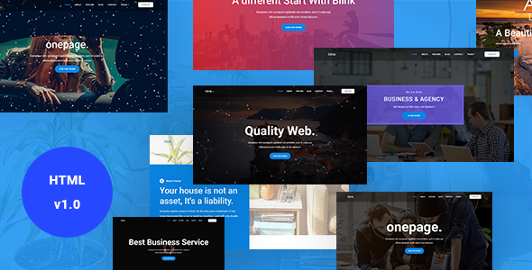 Blink - One Page Parallax - Business Corporate