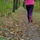 Running - Woman Runner Jogging on Autumn Forest Path Fit Female Sport Fitness Model Athlete Trail - VideoHive Item for Sale