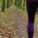 Running - Woman Runner Jogging on Autumn Forest Path. Fit Female Sport Fitness Model Athlete Trail - VideoHive Item for Sale