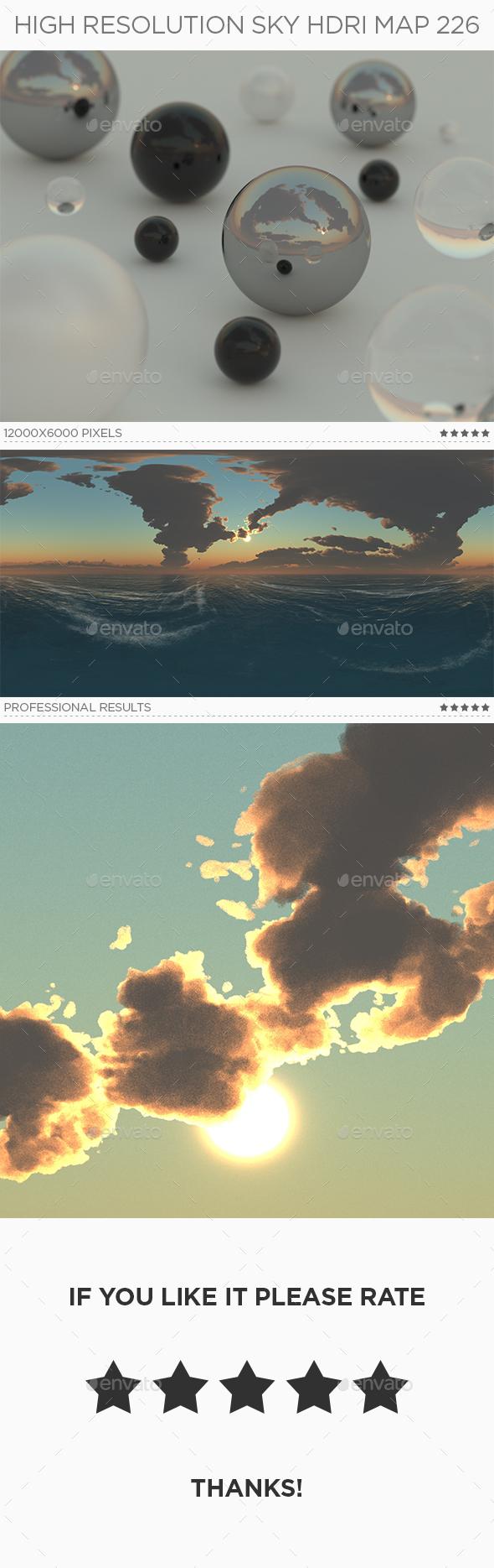 High Resolution Sky HDRi Map 226 - 3DOcean Item for Sale