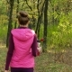 Beautiful Fitness Sport Girl Walking Along the Autumn Park in Sportswear with Sports Water Bottle or - VideoHive Item for Sale