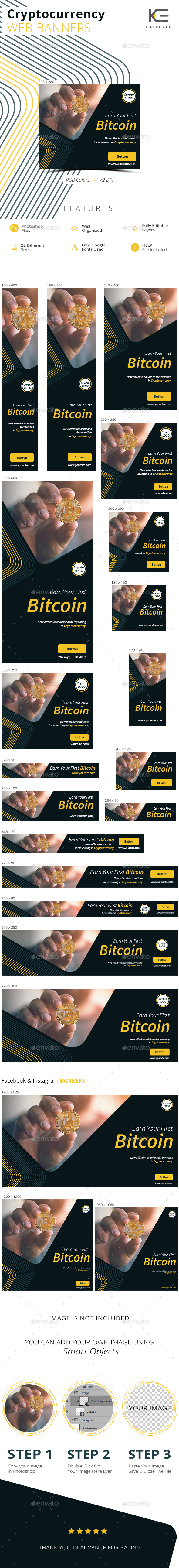 Cryptocurrency Banners - Banners & Ads Web Elements