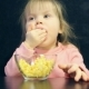 Child Eats with Hands - VideoHive Item for Sale