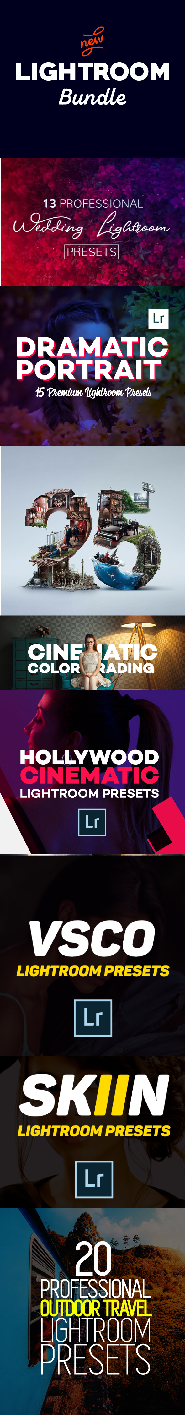 130+ Lightroom Presets Bundle - Lightroom Presets Add-ons