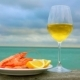 Still Life of Plate with Shrimps, Lemon and Wine - VideoHive Item for Sale