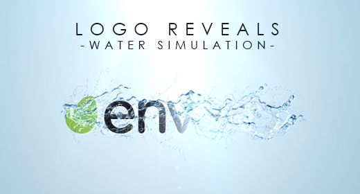Logo Reveals - water simulation