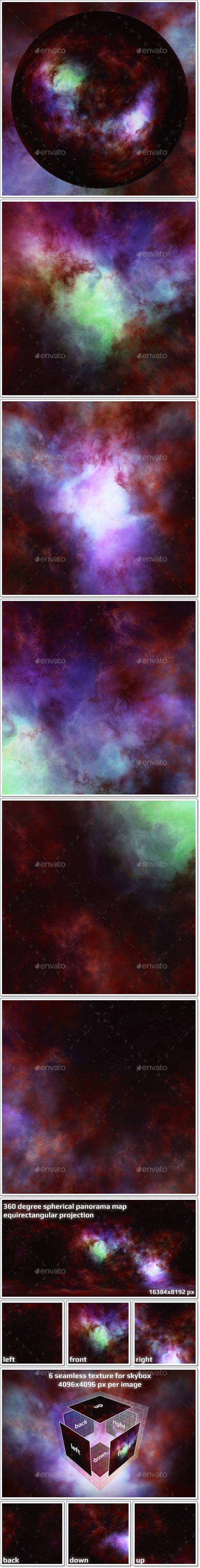 Nebula Space Environment HDRI Map 013 - 3DOcean Item for Sale