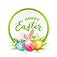 Card of Easter Eggs with Rabbit Ears in Grass - GraphicRiver Item for Sale