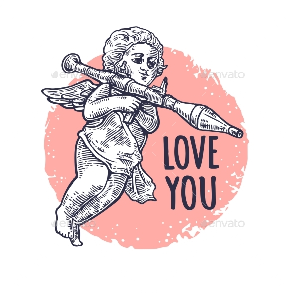 Angel with a Grenade Launcher - Miscellaneous Vectors