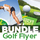 Golf Tournament Flyer Bundle Template - GraphicRiver Item for Sale