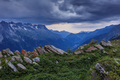 Chamonix valley in the clouds. France - PhotoDune Item for Sale