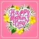 Mother Day Greeting Card with Spring Flower Heart