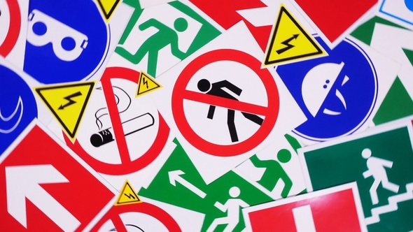 Safety Signs And Symbols By Yauhenik Videohive