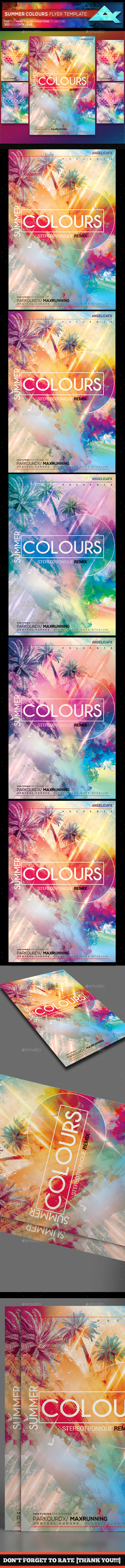 Summer Colour Flyer Template - Events Flyers