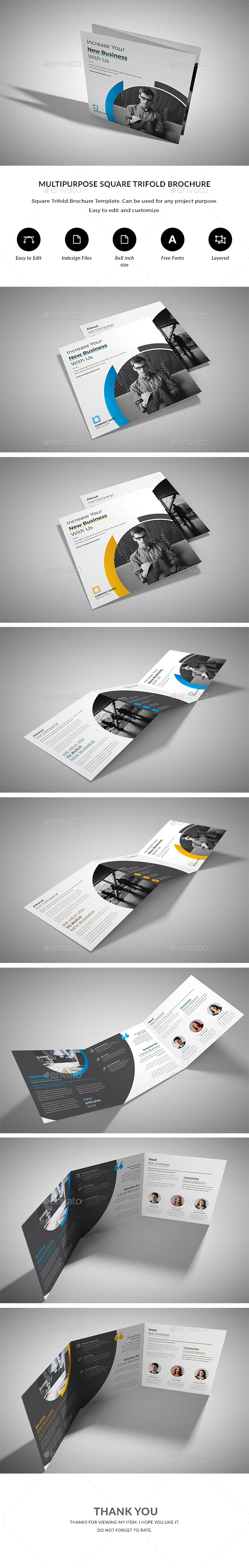 Square Trifold - Corporate Brochures