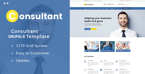 Consultant - Multipurpose Corporate Drupal 8 Template - Drupal CMS Themes