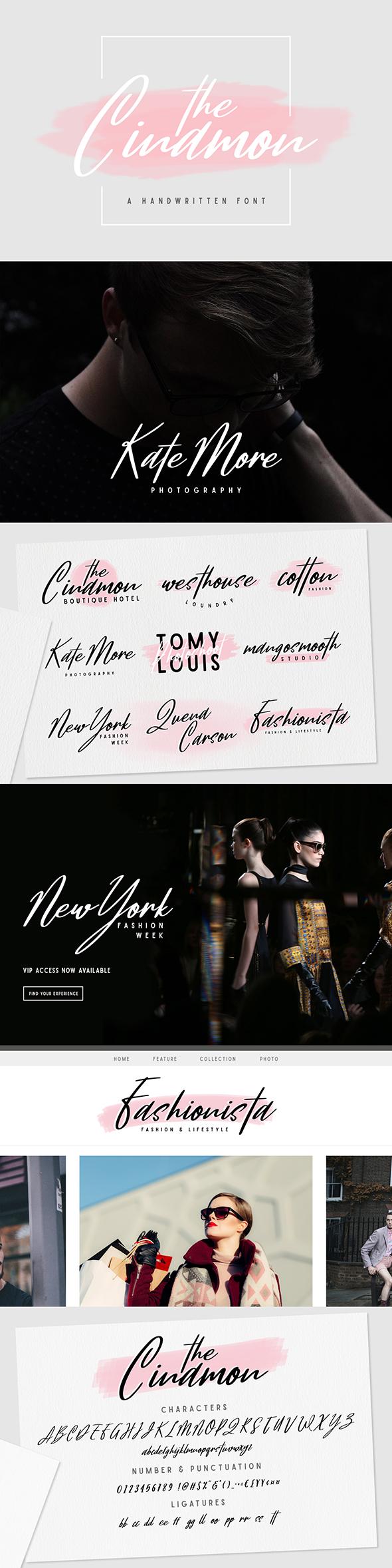 Cinamon Font - Script Fonts