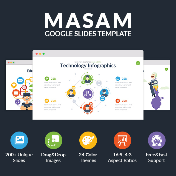 Masam - Multipurpose Google Slides Template - Google Slides Presentation Templates