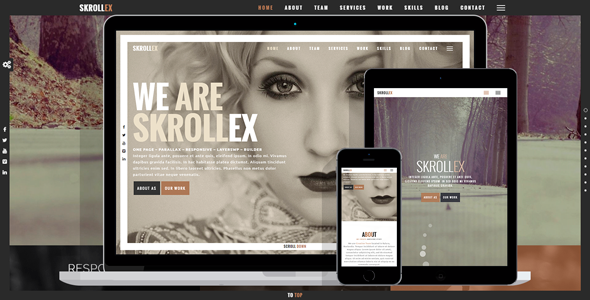 Image of Skrollex - Creative One Page Parallax