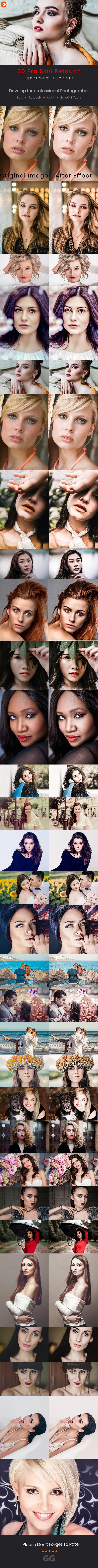 30 Pro Skin Retouch Lightroom Preset - Portrait Lightroom Presets