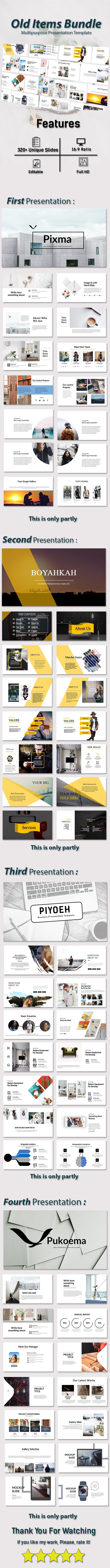 Old Items Bundle 4 in 1 - Finance PowerPoint Templates