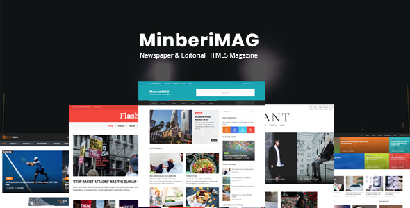 MinberiMag - Newspaper & Editorial HTML5 Magazine - Entertainment Site Templates