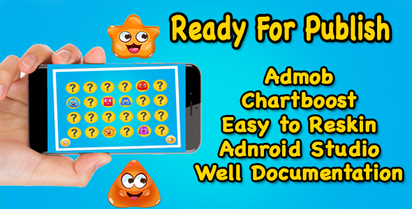 Kids Flip The Jelly - Match Pair Game - Android Studio - Ready For Publish - CodeCanyon Item for Sale