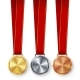 Champion Medals Blank Set Vector - GraphicRiver Item for Sale