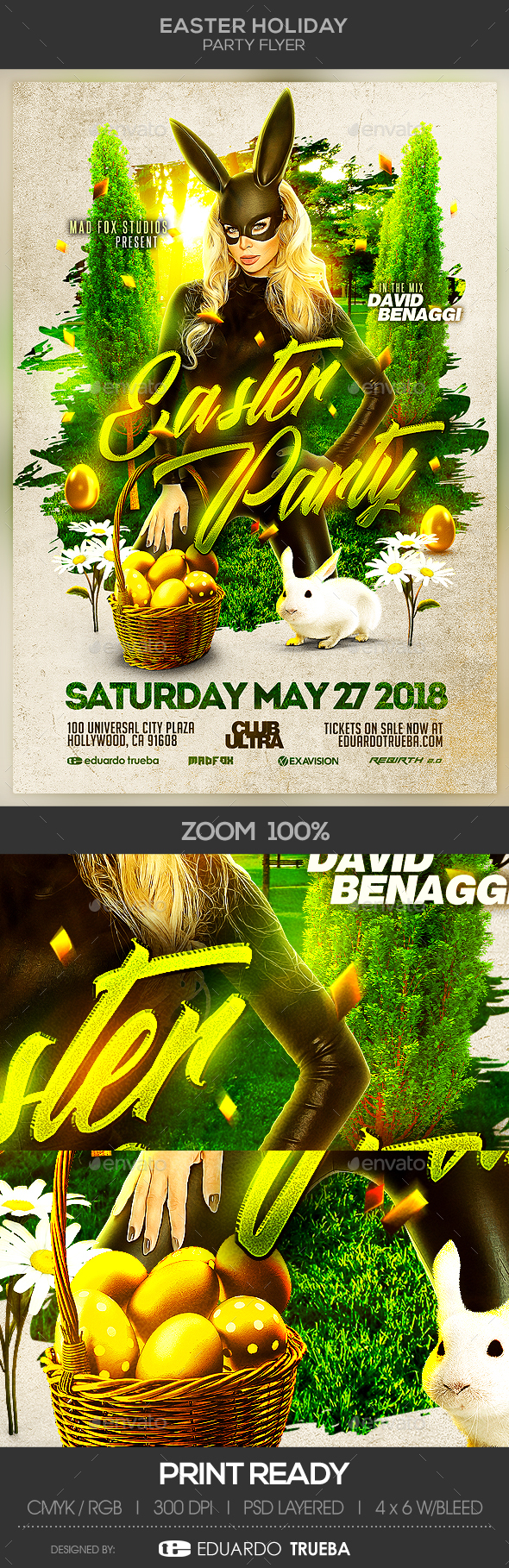 Easter Holiday Party Flyer - Events Flyers