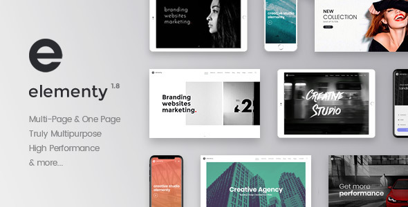Elementy - Multipurpose One & Multi Page Template - Corporate Site Templates