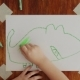 Boy Is Drawing Green Crocodile - VideoHive Item for Sale