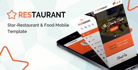 Star - Restaurant and Food Mobile Template - Mobile Site Templates