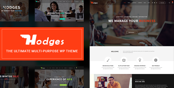 Hodges | Modern Business & Corporate Multi-Purpose WordPress Theme - Business Corporate