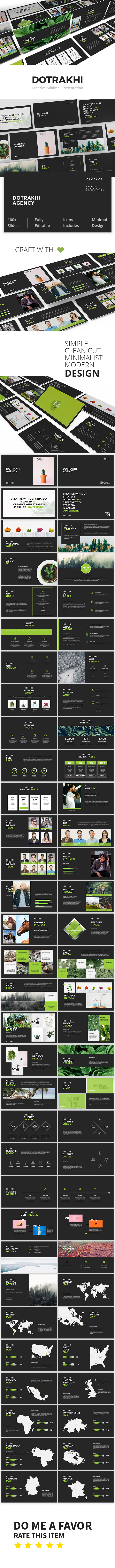Dotrakhi - Creative Minimal Google Slide Template - Google Slides Presentation Templates