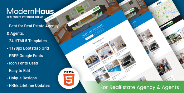 ModernHaus - Real Estate HTML Template